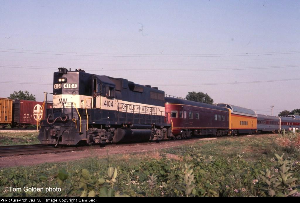 N&W 4104 w/ Steam Special