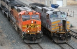 BNSF 5695/KCS 4611 looking like cousins
