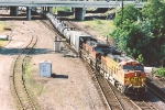 Eastbound unit ethanol train through Division