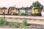 Parked ballast train