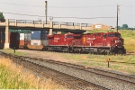 Eastbound intermodal rolls through Foley wye