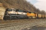 Westbound coal empties through Hoffman
