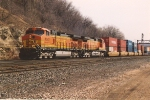 Westbound stack train through Hoffman
