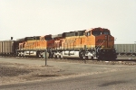 Westbound empties wait for new crew