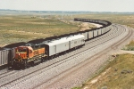 BNSF inspection train heads north