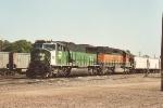 Ballast train parked in yard