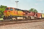 Westbound grain train through University