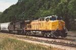 Grain train prepares to enter Belt Yard