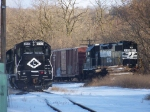 Lehigh Railway 2302 and Norfolk Southern 5101