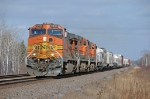 BNSF 5458 leading the Grand Rapids Local