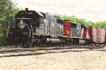 Northbound manifest waits south of the switch tender