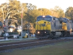 CSXT 7394 leads another Southbound Intermodal across Main Street