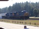 CSXT 5275 & 4786 lead a Northbound Intermodal in Bad Sunlight