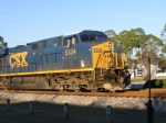 CSXT 5334 passes the switchstand