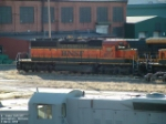 BNSF 8057 SD40-2 sitting outside shops