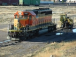 BNSF 8081 ready to be pushed up to the Talgo-LRC shops