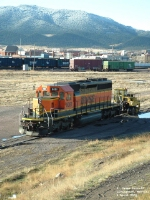 BNSF 8081 on its way to be repaired at Talgo-LRC shops