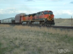 BNSF 997 heading westbound into town