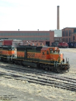 BNSF 8057 SD40-2 waiting at Talgo-LRC shops