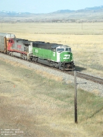 BNSF 9288 leaving eastbound