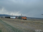 BNSF train trying to outrun Montana snowstorm