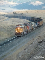 BNSF 4572 westbound hauling coal