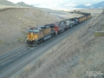 BNSF 4572 hauling coal drag