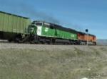 BNSF 9274 SD60M leaving eastbound