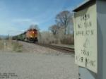 BNSF 4390 DASH 9 at rural crossing