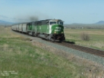 BNSF 9283 SD60M moving quick