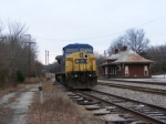 CSXT 7884 and the old Abbeville Depot