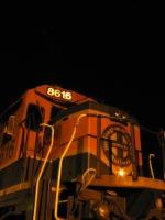 BNSF 8616 under the stars
