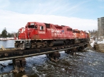 CP northbound on the Waterloo sub crossing the Speed River @ 16:30.