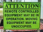 Remote control sign