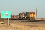 BNSF 4612 West - About to put Texas behind