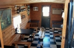 Inside the caboose restaurant