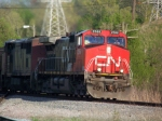 CN coal train heading south