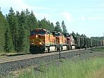 BNSF EB Freight goes in the hole