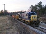 CSXT 5870 on the lead of a small M.O.W work train