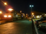 Late Night Southbound Mixed Train leaves Greenville after a crew change