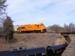 PICK 9508 crossing the new tank cars