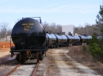 More New Tank Cars Stored on the old Woodchip Plant Siding