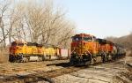 BNSF meet east of Argentine