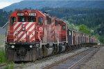 CP 6023 ballast train in Salmon Arm BC
