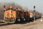 BNSF 5181 coming off the south leg of Afton Junction with a high ball west