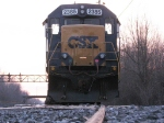 CWR train head end CSX 2385 road slug