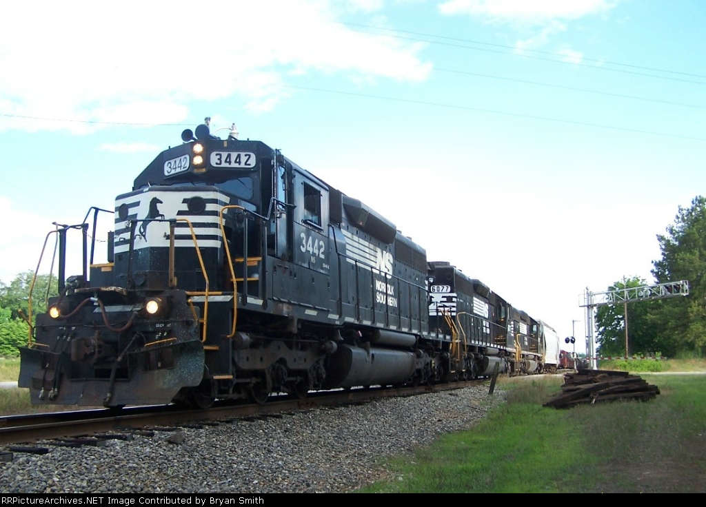 Three SD40-2's