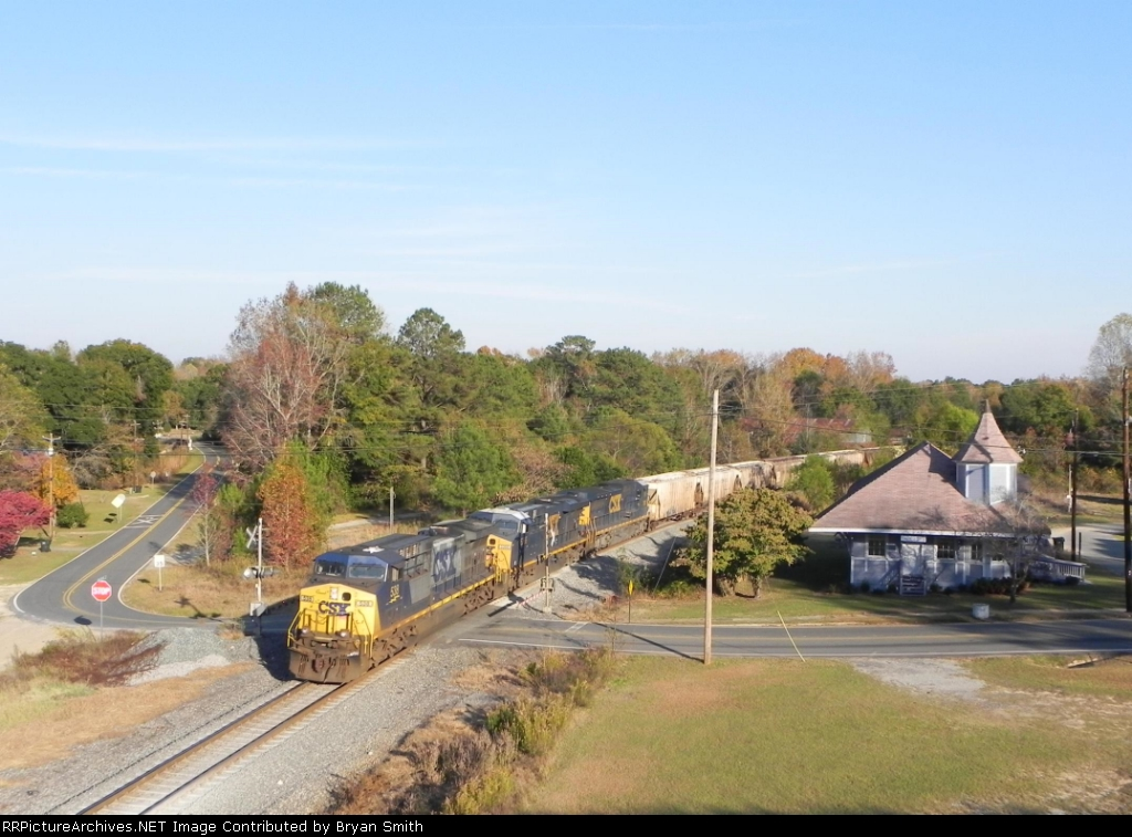 New train and old depot