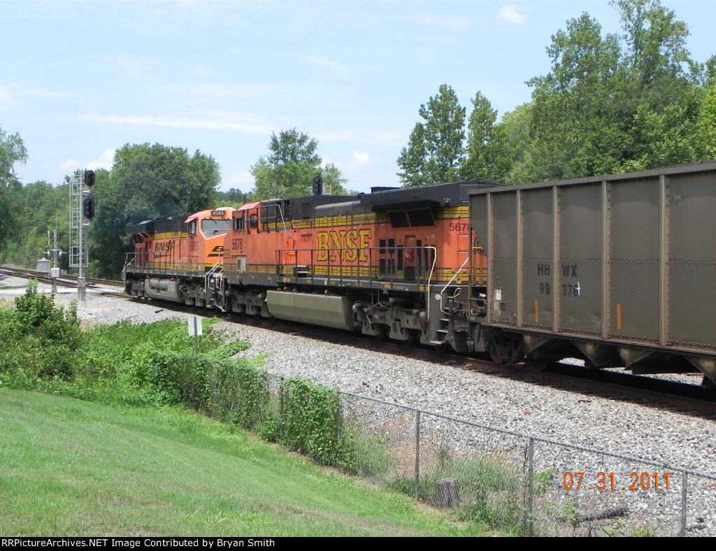 DPU units on southbound coal train