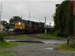 CSX Northbound pig train